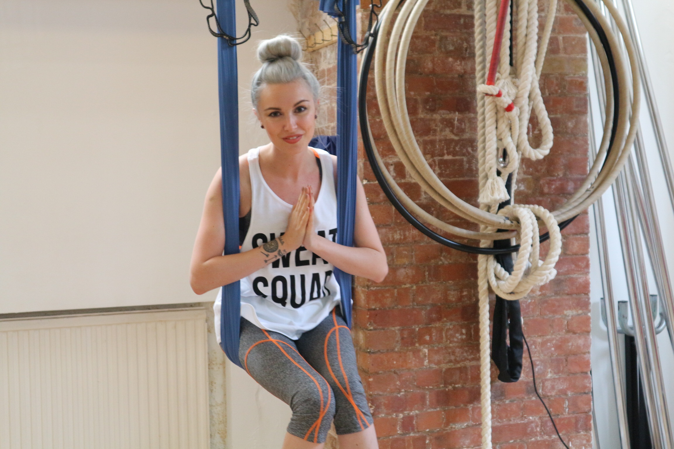 Anti-Gravity Yoga with Boohoo - Kitty Cowell